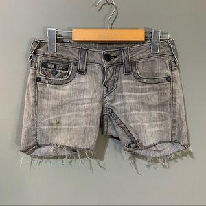 5/15$ True Religion Distressed Jean Shorts
